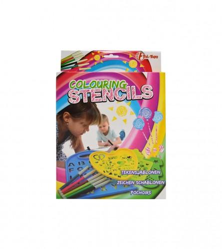 Toi-Toys Kalupi za crtanje + flomasteri 47258