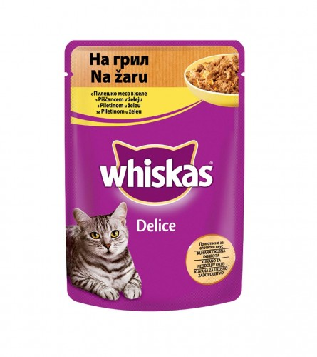 Whiskas delice grill piletina 85gr