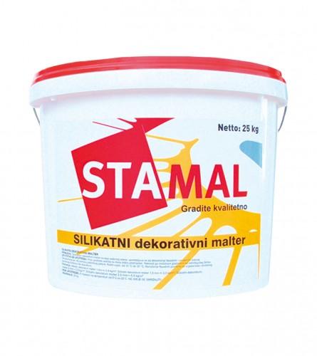 STAMAL Malter fasadni silikatni dekorativni bijeli 25/1