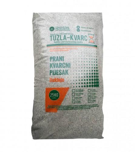 TUZLA-KVARC Pijesak kvarcni 0,1-0,65mm 25/1