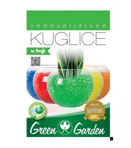GREEN GARDEN Vodoupijajuće kuglice 10gr zelene