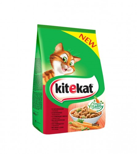 Kitekat dry beef vegetables 300gr