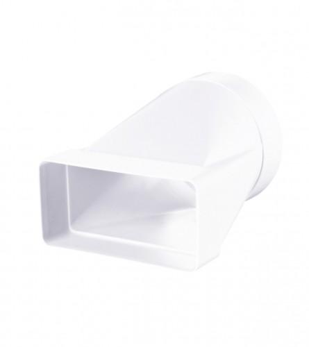 VENTS Redukcija za ventilaciju 204x60mm fi.125 PVC bijela 812