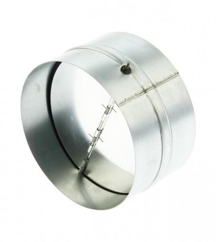 VENTS Spojnica za ventilaciju sa klapnom fi.125 KOM125