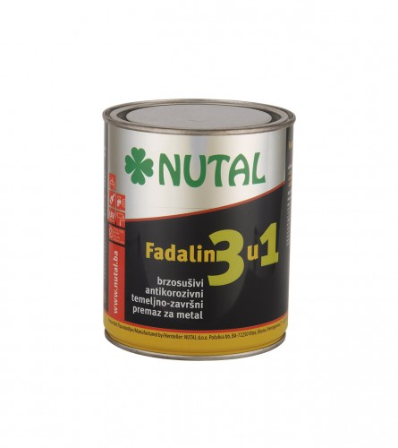 NUTAL Boja emajl fadalin 3u1 0,75L Bijeli