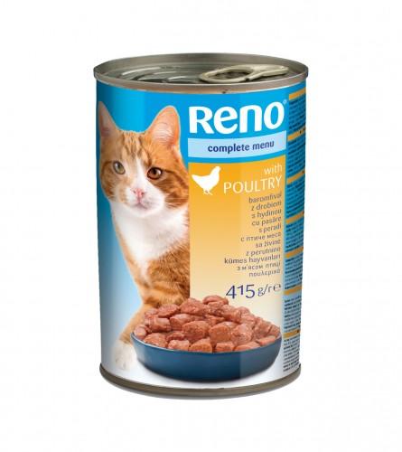 RENO Hrana za mačke perad 415g P93433