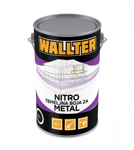 WALLTER Nitro temeljna boja za metal boja 5L