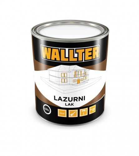 WALLTER Lazurni lak boja orah 0,75L