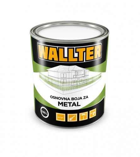 WALLTER Osnovna boja za metal smeđa 0,65L