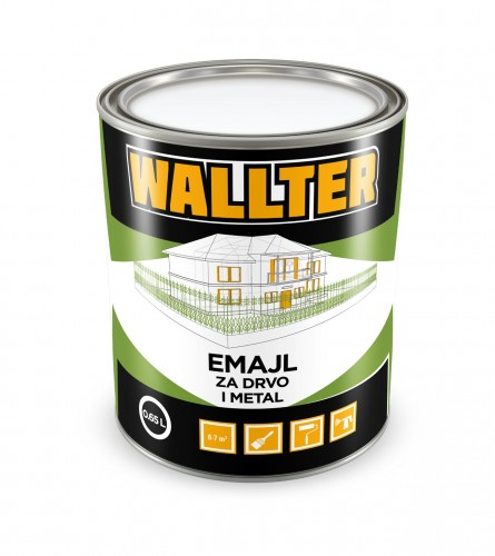 WALLTER Emajl za drvo i metal boja bijela 0,65L