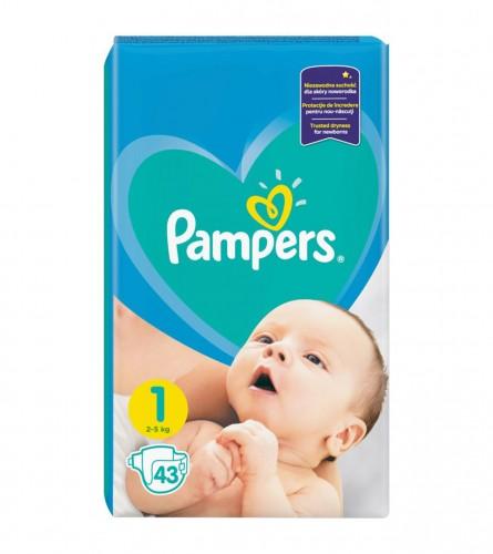 PAMPERS Pelene 1 New Baby Born 43kom