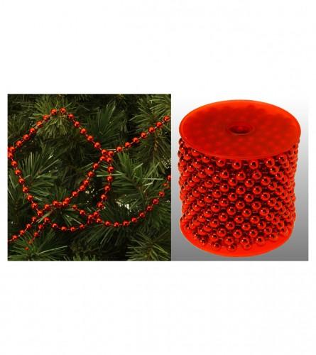 Koopman Ukras za jelku biseri RED AAX900160