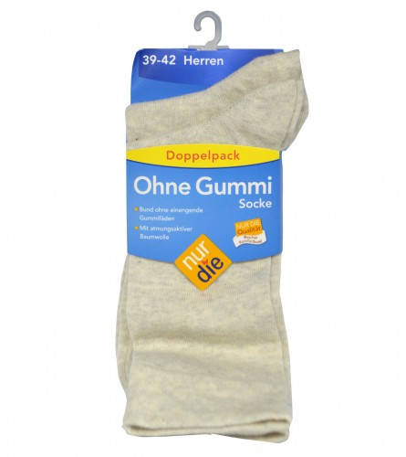 NUR DIE Čarape bez gume muške 407593