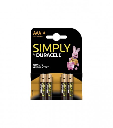 DURACELL Baterije simply AAA 4/1