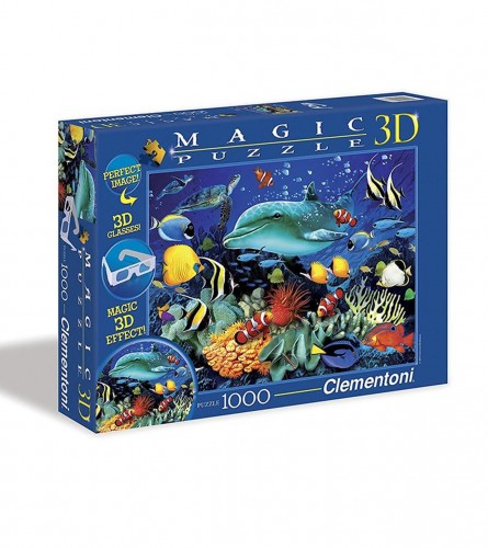 CLEMENTONI Puzzle 1000kom morski reljef 39186