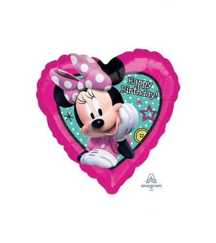 Amscan Balon Minnie Mouse srce S60 3623101