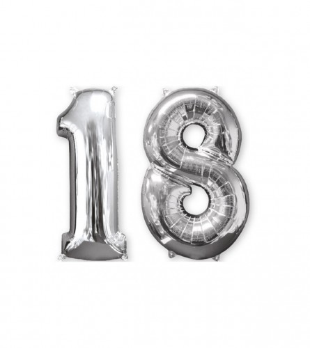 "Amscan Balon srebreni broj 18 26"" P56 3581401"