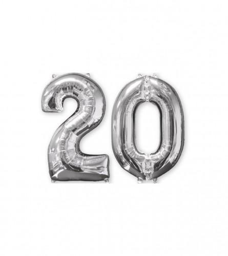 "Amscan Balon srebreni broj 20 20"" P56 3581501"