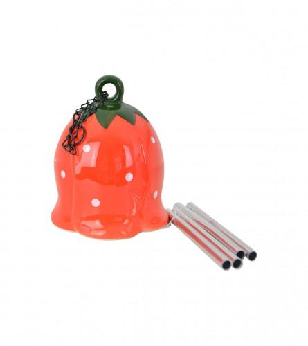 KOOISTRA Zvonce keramičko ukrasno crveno