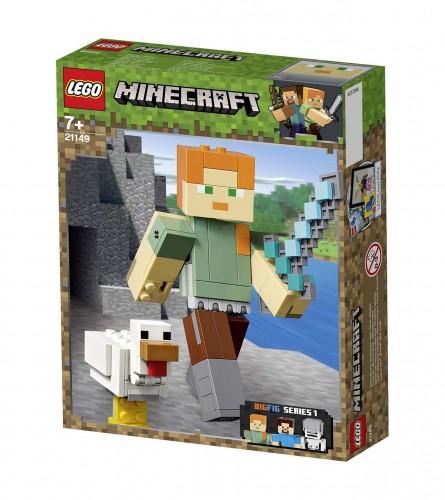 LEGO Igračka Minecraft Bigfig Alex sa piletom 21149
