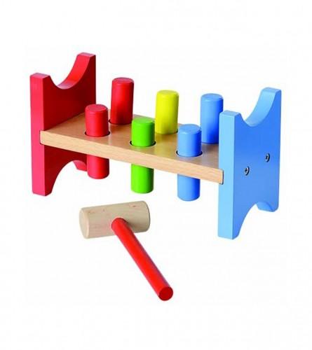 Igračka didaktička stalak sa klinovima i čekićem 227104