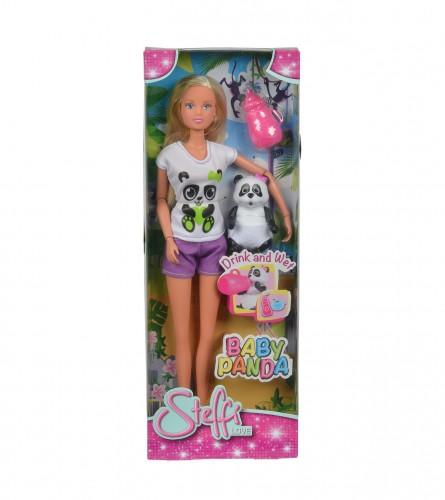 Igračka lutka Stefi sa pandom 29cm 481048