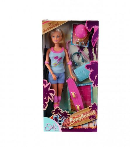 SIMBA Igračka lutka stefi na skejtbordu 441578