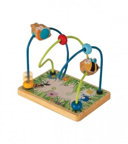 Igračka motorička drvene kuglice 247672