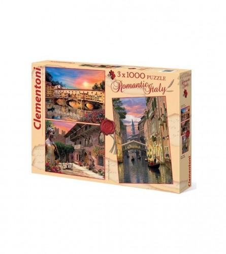 Igračka puzzle 3x1000kom ROMANTIC ITALY 161919