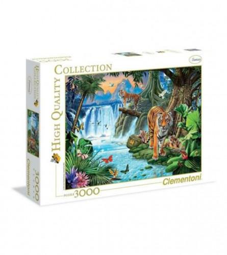 CLEMENTONI Igračka puzzle 3000kom porodica tigrova 143187