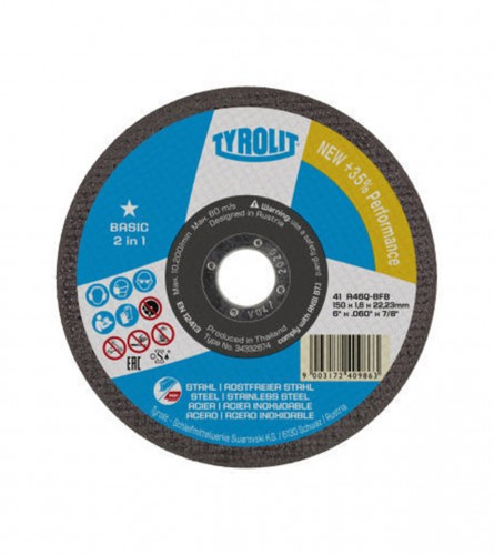 TYROLIT Ploča rezna 125x1mm ČELIK+INOX 34332871