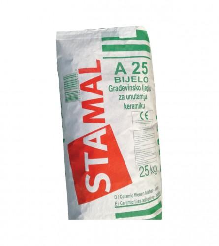STAMAL Ljepilo za pločice unutarnje bijelo A25 25kg