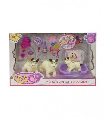 MASTER Igračka kućni ljubimci psi sa dodacima JQ124785