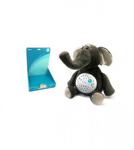 MASTER Igračka plišana slon sa svjetlom i muzikom JA46294C