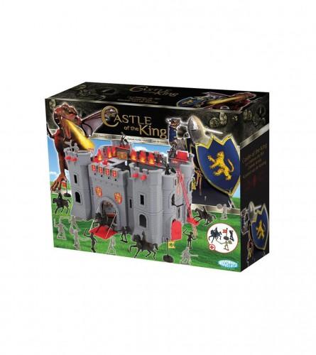 MOCHTOYS Igračka dvorac sa ratnicima PVC 38x38x24 11073