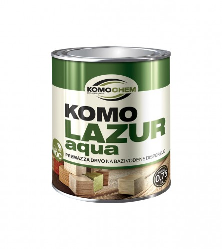 KOMOCHEM Boja za drvo aqua komolazur 0,75l bezbojni