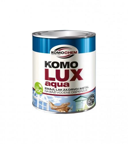 KOMOCHEM Boja emajl aqua za drvo i metal 0,75l smeđa