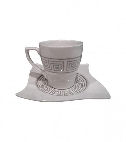 MASTER Šoljice za kafu velike 12/1 Premium Silver 01200086