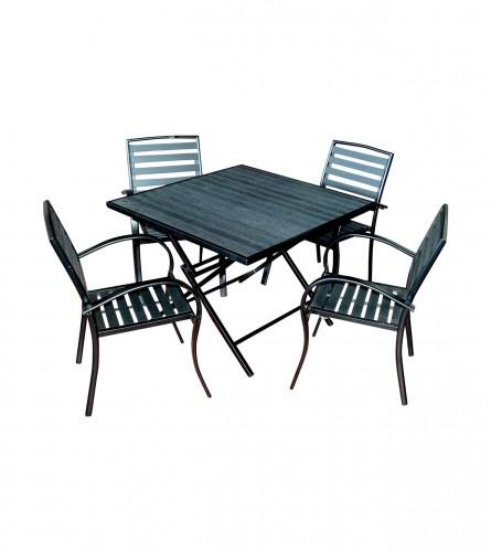 MASTER Sto i 4 stolice 8815B Crni 01200741