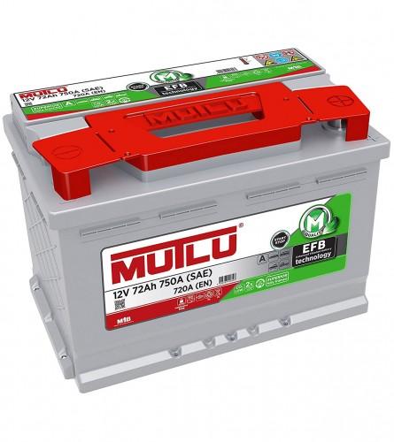 MUTLU Akumulator 12V-72Ah Start-Stop EFB.L3.72.072.A
