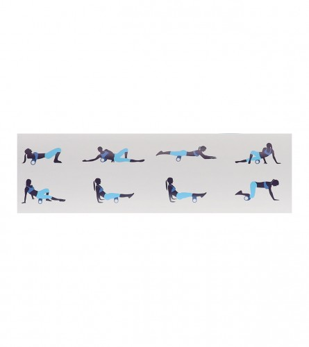 RICHMORAL Roller za jogu 15x60cm YRB1560 Plavi