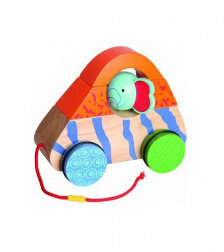 BELUGA Igračka autić drveni sa užetom safari 247126