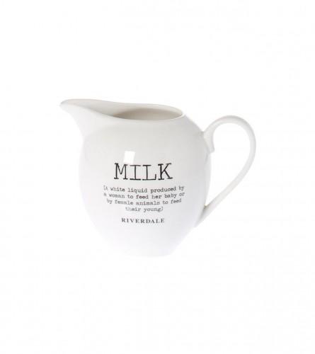 KOOISTRA Bokalić za mlijeko 8,5x10x13cm Bijeli