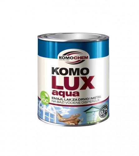 KOMOCHEM Boja emajl aqua za drvo i metal 0,75l Komolux Bezbojna