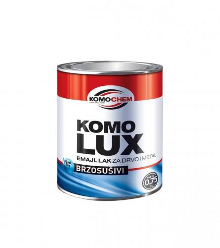 KOMOCHEM Boja emajl za drvo i metal brzosušiva Komolux 0,75l Mat bijela