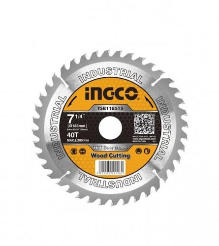 INGCO TOOLS Ploča rezna za drvo 185x20mm 40T TSB118515
