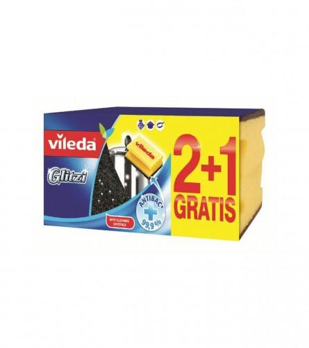 VILEDA Spužvice Glitzi 2+1 150771
