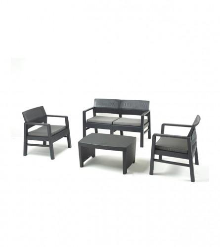 PRO GARDEN Garnitura Fuji sa jastucima 8009271094116 Antracit