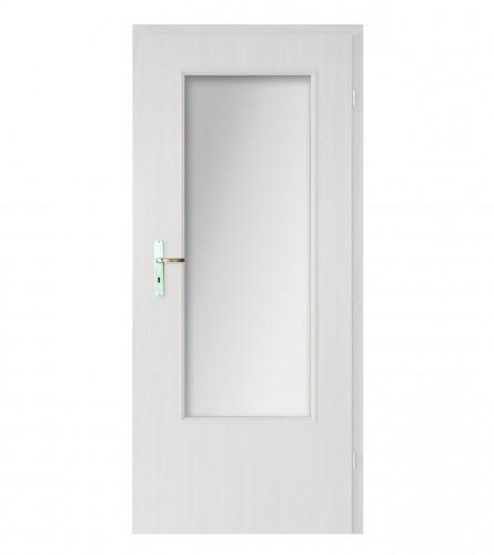 INVADO Vrata sobna 90L/09/90L bijela B134 sa staklom