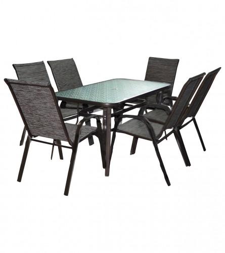 MASTER Set sto + 6 stolica smeđi WMTC-012+WMGT-011A